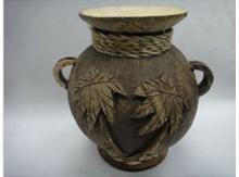 海南工艺品花瓶手工天然椰壳椰雕花瓶