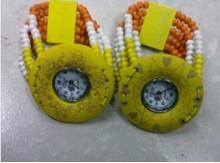 海南特色工艺品时尚花彩色椰木珠手表